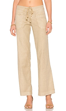 Leandra Lounge Pant in Perfect Tan