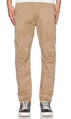 LEVI'S: Made & Crafted Crouch Pants in Khaki Buffed