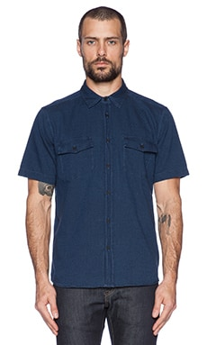 LEVI'S: Made & Crafted Shirt in Indigo Dobby Bleached