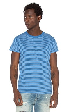 LEVI'S Vintage Clothing 1950's Sportswear Tee in Blue Stripe