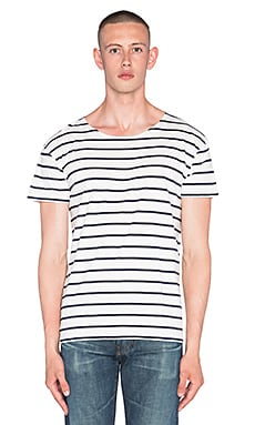 LEVI'S Vintage Clothing 1930's Bay Meadows Tee in Admiral Stripe