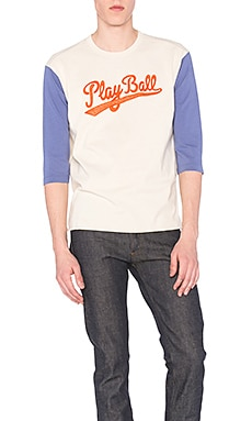 LEVI'S Vintage Clothing Long Sleeve Tee in Royal Play Ball