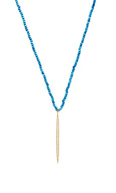 Lisa Freede Mala Icicle Necklace in Turquoise & Yellow Gold