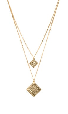 Double Medieval Necklace in Yellow Gold