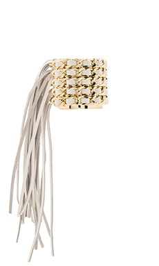 Jett Cuff in Yellow Gold & White