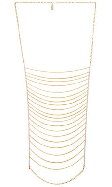 Lisa Freede Malibu Necklace in White Topaz & Yellow Gold
