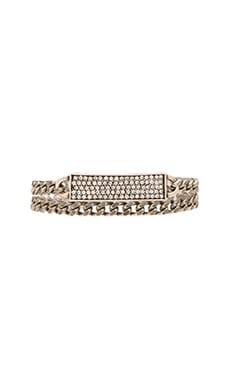 Lisa Freede Wrap Crystal ID Bracelet in Antique Rhodium