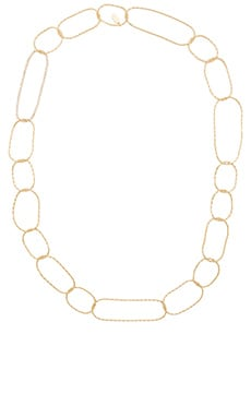Lisa Freede Chevron Link Necklace in Yellow Gold