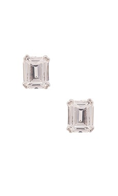 Asscher Cut Stud in Silver