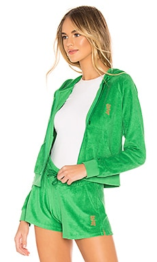 Terry Shrunken Zip Up les girls les boys $36