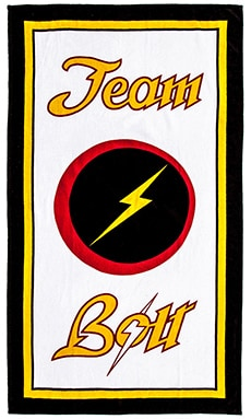 Lightning Bolt Style Masters Towel in Unique