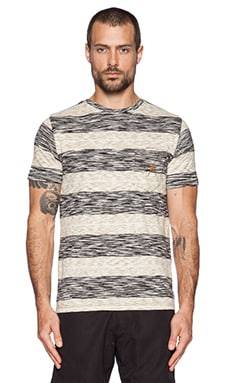 Lightning Bolt Twin Stripe S.D. Pocket Tee in Moonless Night