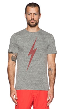 Lightning Bolt Forever Triblend Tee in Heather Grey