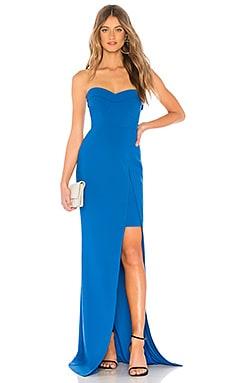 Фото - Вечернее платье ella - LIKELY синего цвета