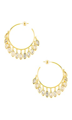 Marquise Shaker Hoops Lili Claspe $115