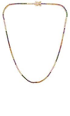 Amina Tennis Necklace Lili Claspe $205