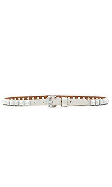 Linea Pelle Studded Hip Belt in White & White