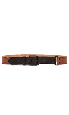 Linea Pelle Colorblock Hip Belt in Cognac and Black