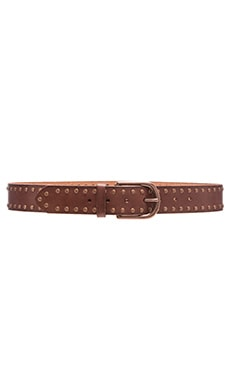 Linea Pelle Nico Studded Jean Belt in Rust