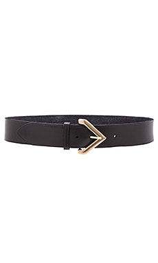 Triangular Buckle Hip Belt in Black