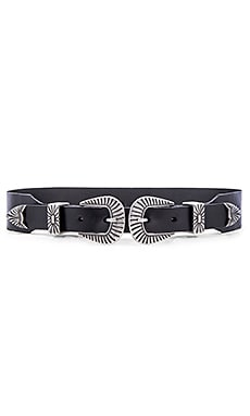 Double Buckle Hip Belt in Black