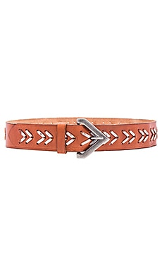Chevron Laced Hip Belt in New Cognac & Silver