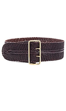 Linea Pelle Woven Braided Waist Belt in Tmoro