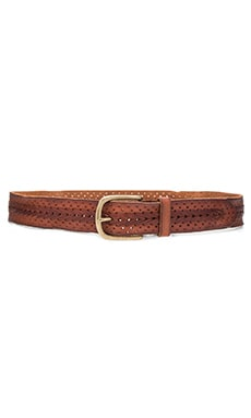 Linea Pelle Center Braid Hip Belt in Cognac
