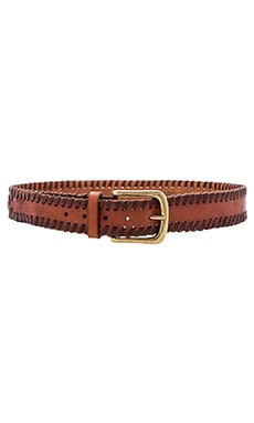 Linea Pelle Vintage Lace Edge Hip Belt in New Cognac & Antique Brass