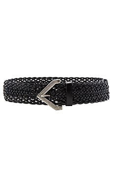 Braided Buckle Hip Belt in Black