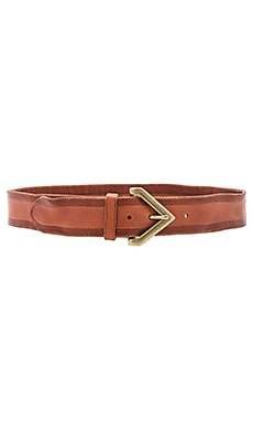 Triangle Buckle Belt in New Cognac