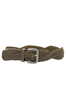 Twist Braid Belt in Olive