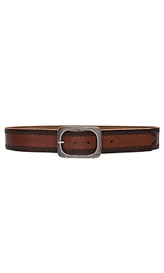 Embossed Jean Belt in Brown