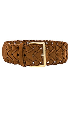 Suede Link Belt in Cinnamon