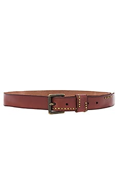 Studded Jean Belt in Rust