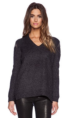 Line Rae V Neck Sweater in Charcoal