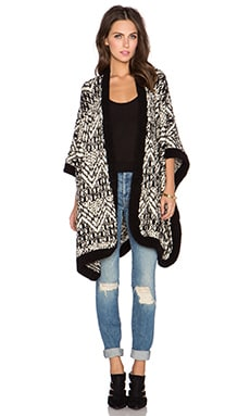 Line Claremont Cardigan in Ebony & Ivory