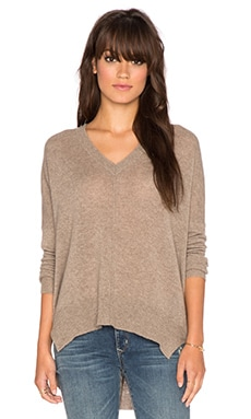 Line Judes V Neck Sweater in Chestnut
