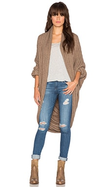 Line Lars Cocoon Cardigan in Birch