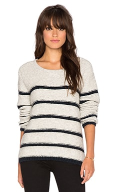 Line Beaufort Stripe Sweater in Avalanche & Indigo