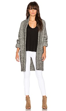 Line Claudette Oversized Cardigan in Dark Star