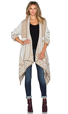 Line Jacob Cardigan in Avalanche & Ecru