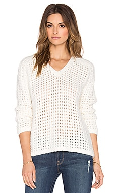 Line Jameson Pullover Sweater in Bright White