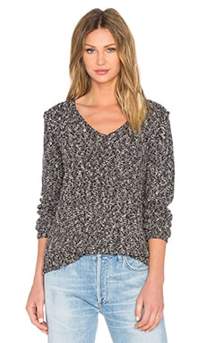 Val V Neck Printed Sweater in Twister