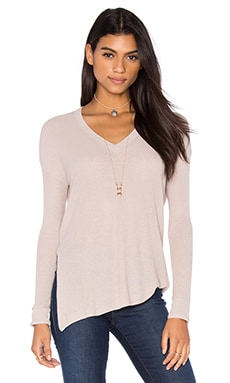 Hayden V Neck Sweater in Rosin