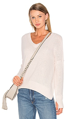 Charlie V Neck Sweater in Ballet Slipper