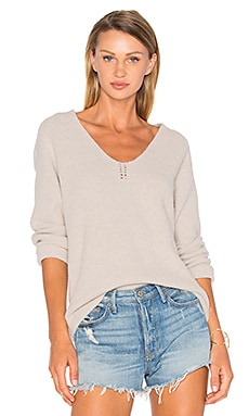 Sophia V Neck Sweater in Latte