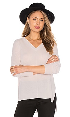 Judes V Neck Sweater in Bare