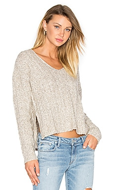 Rowen V Neck Sweater in Granite