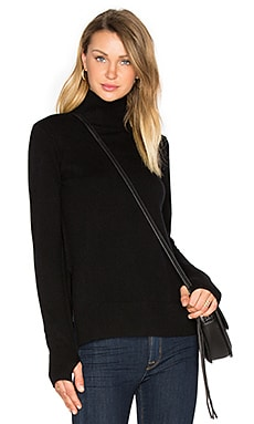 Serena Mock Neck Sweater en Caviar
